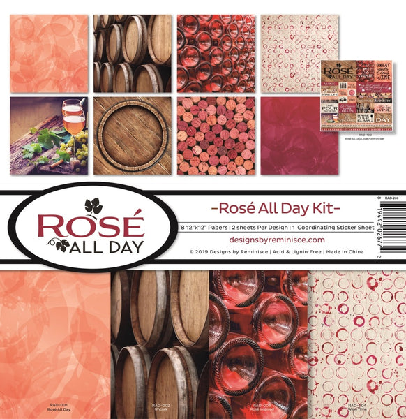 "Reminisce Collection Kit 12""X12"", Rose All Day"