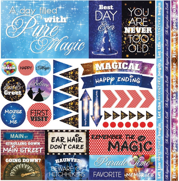 "Real Magic, Elements Stickers 12""X12"""
