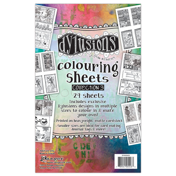 Ranger Dylusions, Colouring Sheets #3 - Scrapbooking Fairies