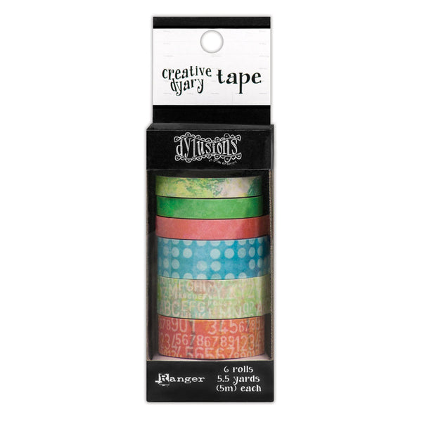 Ranger Dylusions, Creative Dyary, Washi Tape - Scrapbooking Fairies