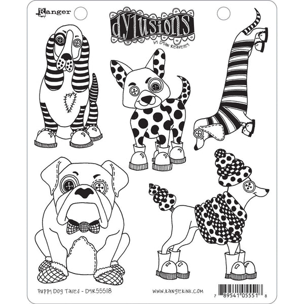 Ranger, Dylusions, Cling Stamp, Puppy Dog Tales