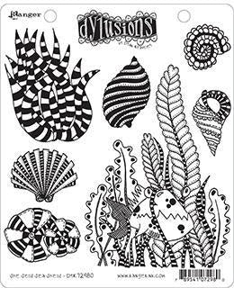 "Dyan Reaveley's Dylusions Cling Stamp Collections 8.5""X7"", She Sells Sea Shells"
