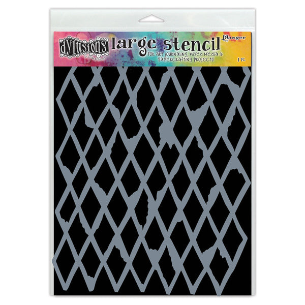 Ranger Dylusions, Diamond In The Rough Stencil (Large) - Scrapbooking Fairies