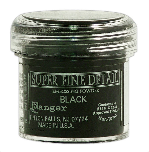 Ranger Embossing Powder, Super Fine Black