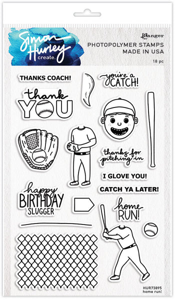 "Simon Hurley create. Cling Stamps 6""X9"", Home Run!"