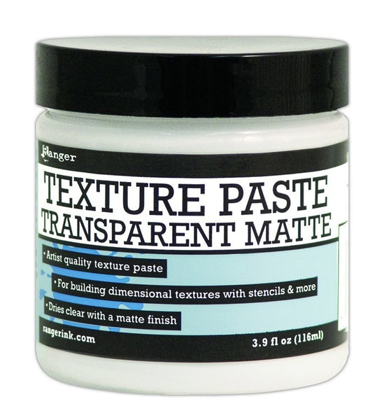 Ranger Texture Paste 4oz, Transparent Matte