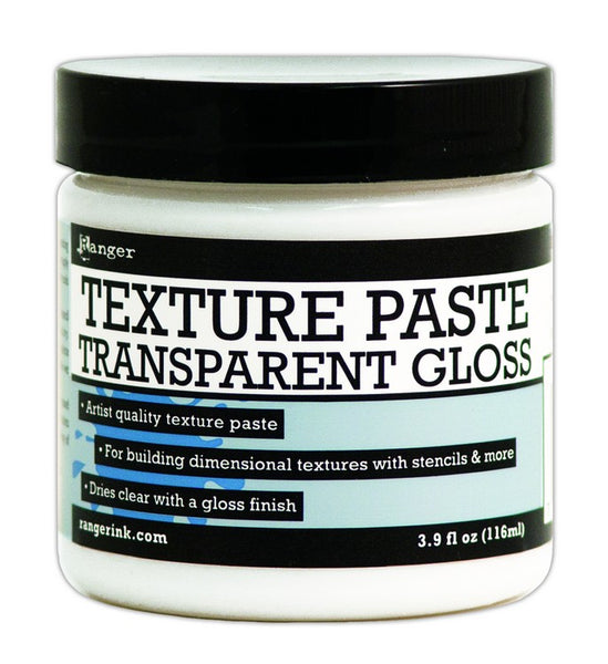 Ranger Texture Paste 4oz, Transparent Gloss