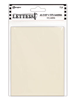 "Ranger Letter It Cardstock 4.25""X5.5"" 12/Pkg, Ivory Color"