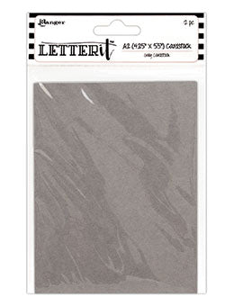 "Ranger Letter It Cardstock 4.25""X5.5"" 12/Pkg, Grey Color"