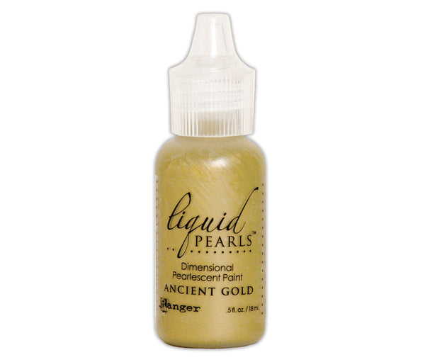Liquid Pearls Dimensional Pearlescent Paint 0.5oz,, Ancient Gold