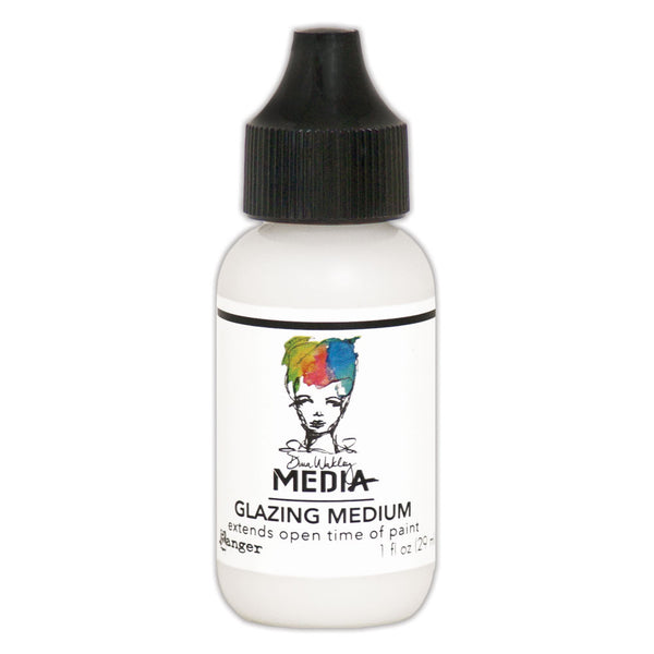 Ranger Dina Wakley, Media, Glazing Medium, 1 oz. - Scrapbooking Fairies