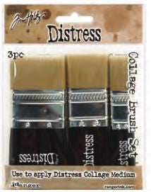 Ranger, Tim Holtz Distress, Distress Collage Brush, 3 Pack Assortment