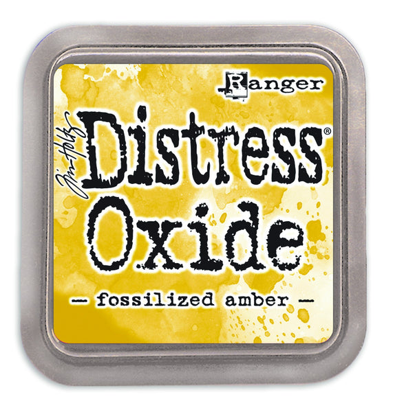 Distress Oxides Ink Pad, Fossilized Amber - Scrapbooking Fairies