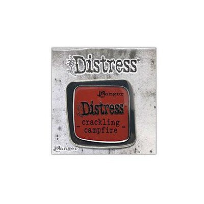 Tim Holtz Distress Enamel Collector Pin, Crackling Campfire