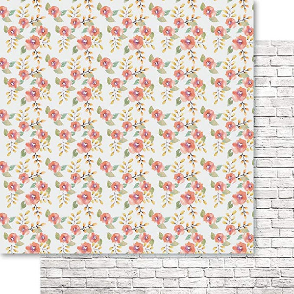 "Bella! Raw & Rustic Double-Sided Cardstock 12""X12"", Floral"