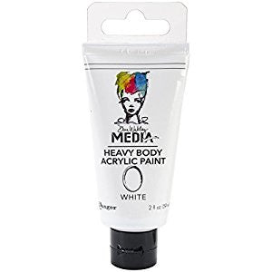 Ranger, Dina Wakley Heavy Body Acrylic Paints Tube - White - Scrapbooking Fairies