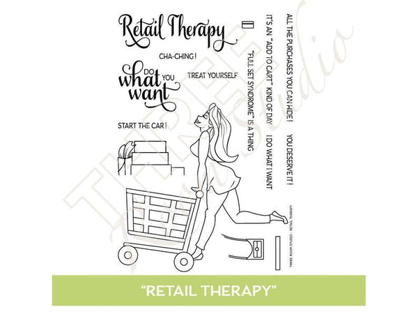 "Three Room Studio, ""Retail Therapy"" Clear Stamp Set"