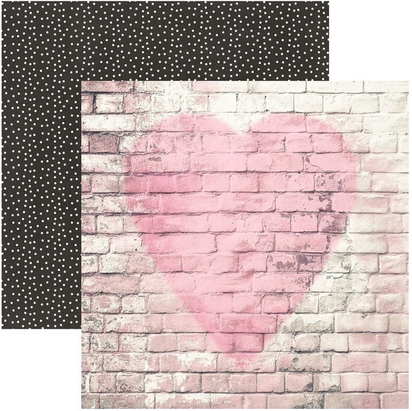 Simple Stories, 12X12 Patterned Paper, Romance - Love Story