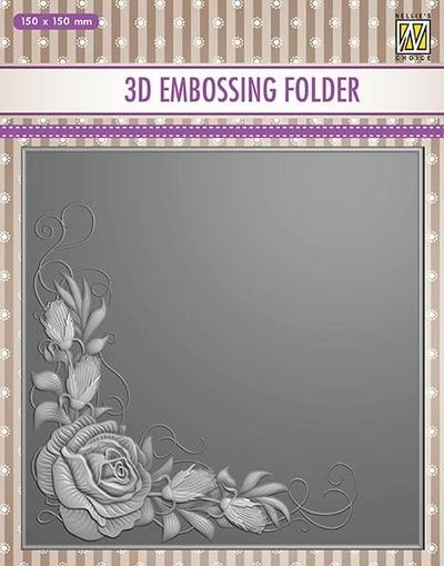 Nellie Embossing 3D Folder - Rose Corner
