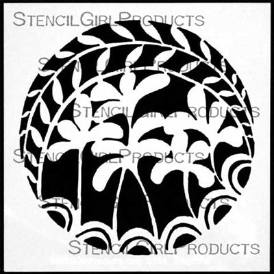 "Stencil Girl, Stepping Stone #3, 6""x6"" Stencil, Designed by Terri Stegmiller"