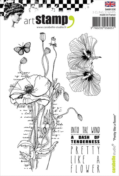 Carabelle Studio Cling Stamp A6, Pretty Like A Flower