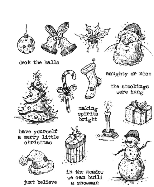 Stampers Annoymous, Cling Stamp, Tattered Christmas - Scrapbooking Fairies