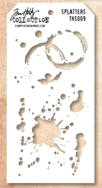 Stampers Anonymous, Tim Holtz Splatters Stencils - Scrapbooking Fairies
