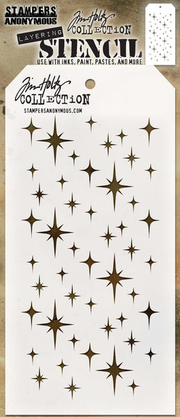 "Tim Holtz Layered Stencil 4.125""X8.5"", Sparkle"