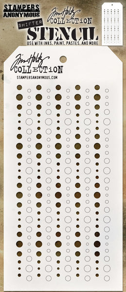 "Tim Holtz Layered Stencil 4.125""X8.5"", Shifter Baubles"