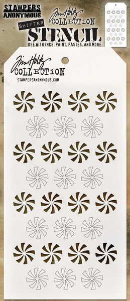 "Tim Holtz Layered Stencil 4.125""X8.5"", Shifter Peppermint"