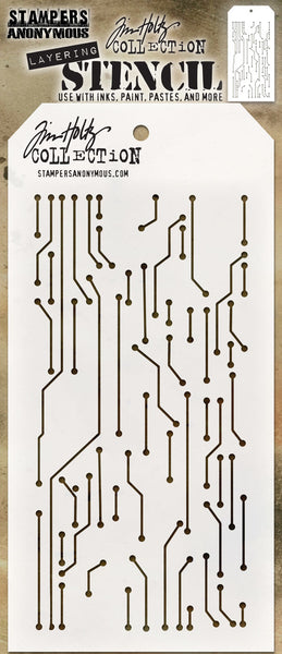 "Tim Holtz Layered Stencil 4.125""X8.5"", Circuit"