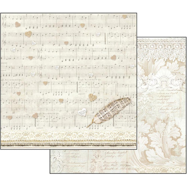 "Stamperia Double-Sided Cardstock 12""X12"", Score & Feather"
