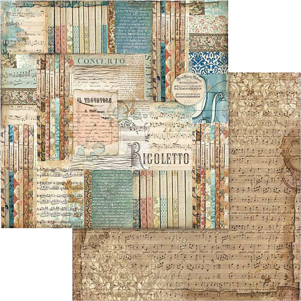 "Stamperia Double-Sided Cardstock 12""X12"", Music Rigoletto"