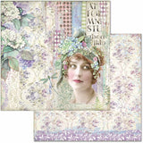 "Stamperia Double-Sided Cardstock 12""X12"", Lady, Hortensia"