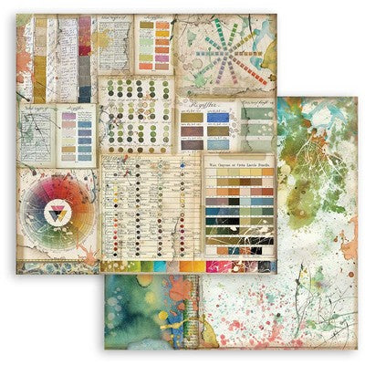 "Stamperia Double-Sided Cardstock 12""X12"", Pantone, Atelier Des Arts"