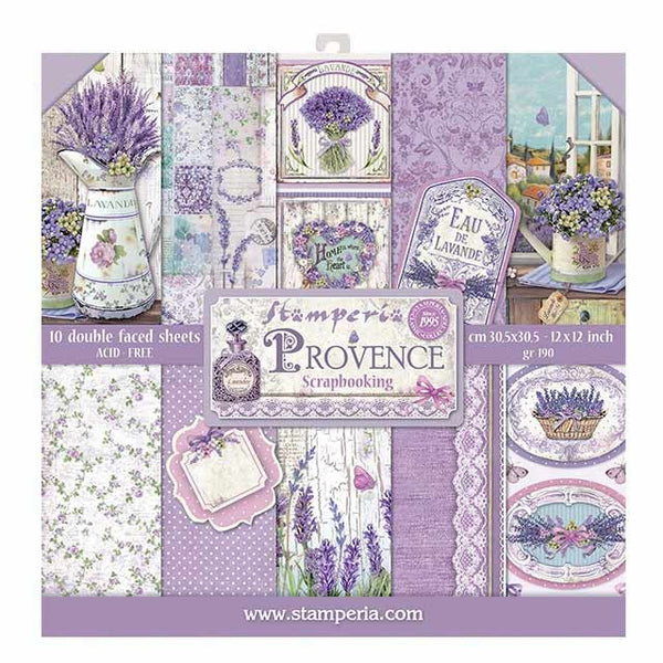 "Stamperia Double-Sided Paper Pad 12""X12"" 10/Pkg, Provence, 10 Designs/1 Each"