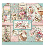 "Stamperia, Double-Sided Paper Pad 12""X12"" 10/Pkg, Pink Christmas 2"