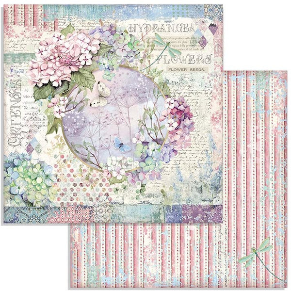 "Stamperia Double-Sided Cardstock 12""X12"", Garland, Hortensia"