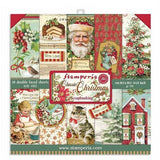 "Stamperia, Double-Sided Paper Pad 8""x8"" 10/Pkg, Classic Christmas"