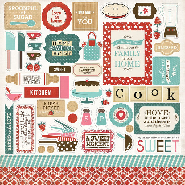 "Home Sweet Home Cardstock Stickers 12""X12"" Elements"