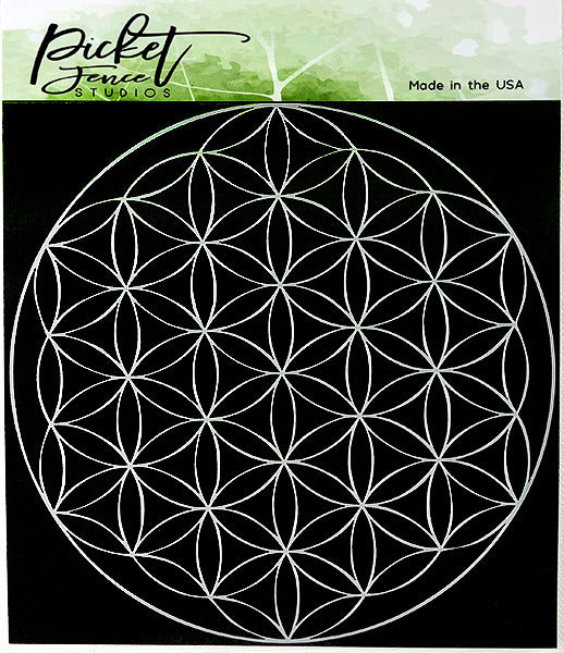 "Picket Fence Studios Stencil 6""X6"", Flower Of Life"