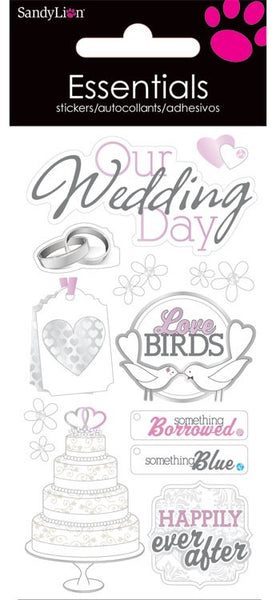 Trends International, Essentials Stickers, Our Wedding Day - Scrapbooking Fairies