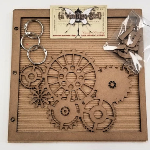 "A Vintage Girl by Candy Rosenberg, ""Imagine"" Chipboard Gear Album Set"
