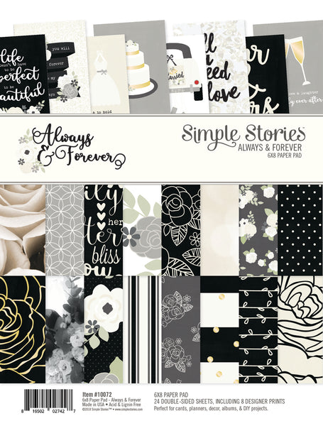 "Simple Stories Double-Sided Paper Pad 6""X8"" 24/Pkg, Always & Forever"