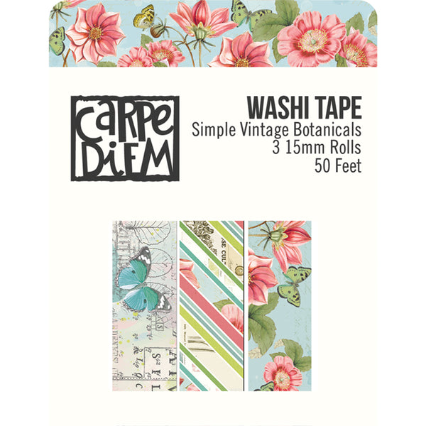 Simple Stories Simple Vintage Botanicals, Washi Tape 3/Pkg