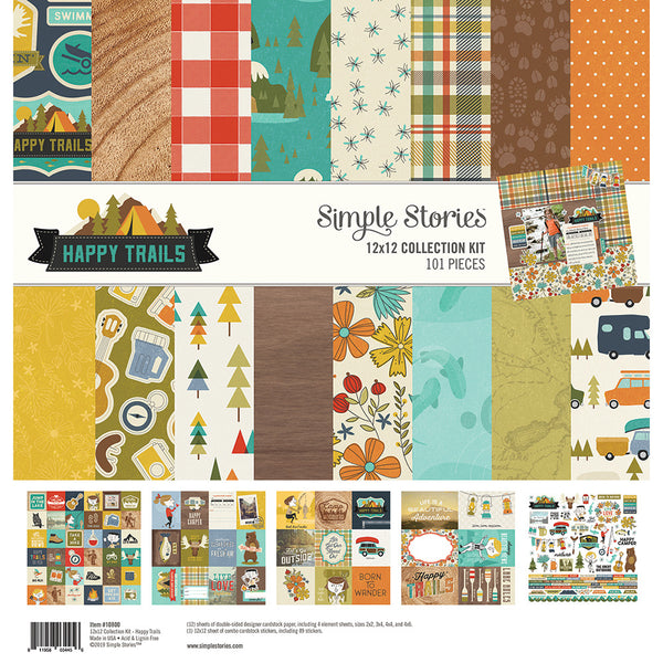 "Simple Stories Collection Kit 12""X12"", Happy Trails"