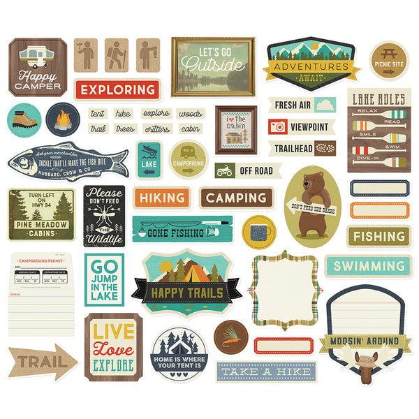 Happy Trails - Journal, Bits & Pieces, Tags & Frames Die-Cuts 48/Pkg