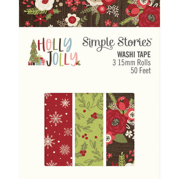 Simple Stories Holly Jolly Washi Tape 3/Pkg