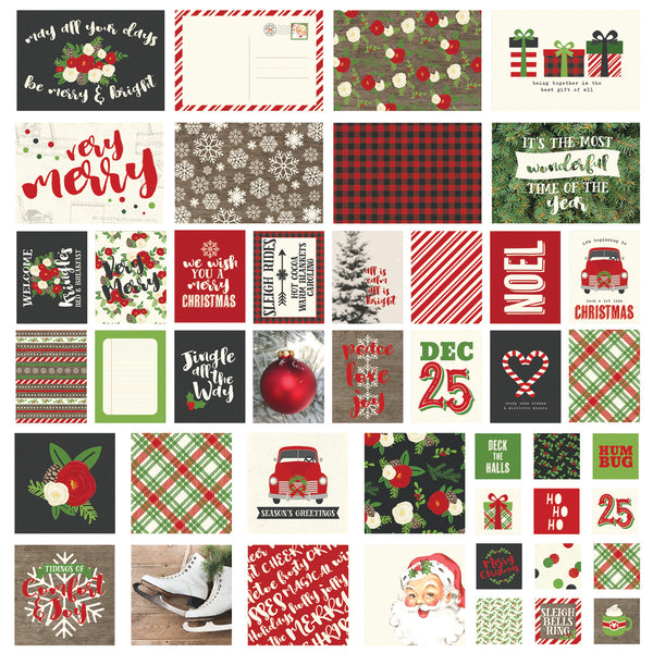Simple Stories, Sn@p! Card Pack, Very Merry,  48/Pkg