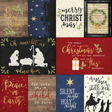 Simple Stories, Elements, O Holy Night - 3X4 & 4X6  Foiled Journaling Card